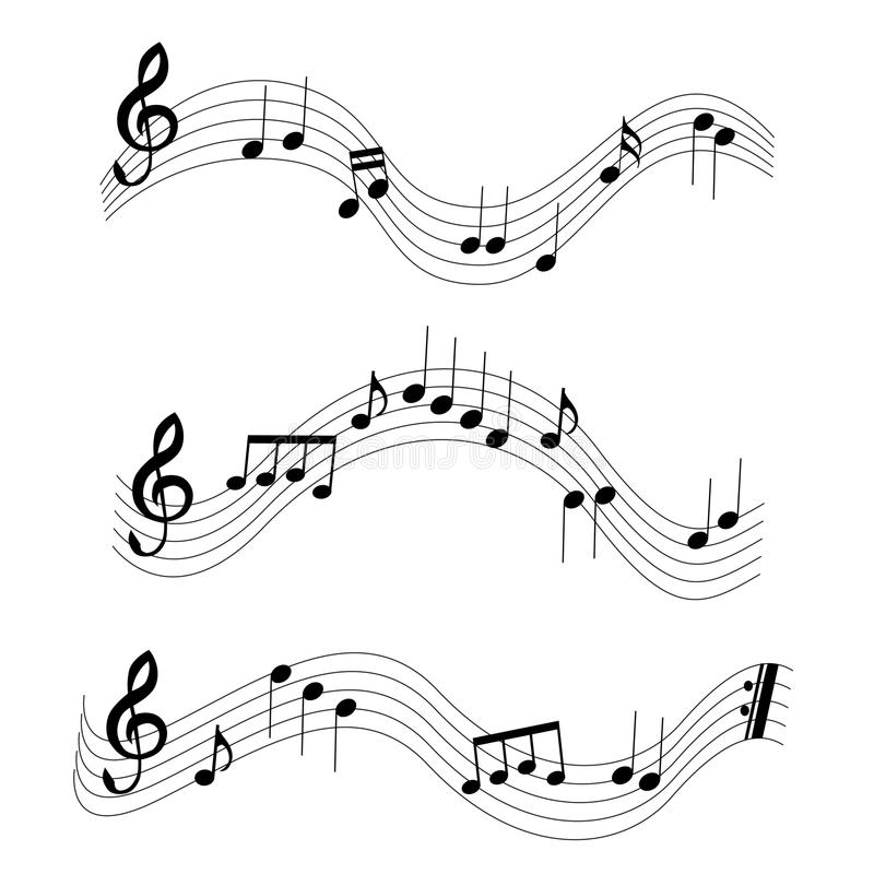 Download Music notes stock vector. Illustration of black, eighth - 14442053