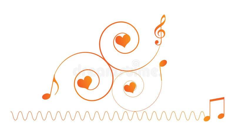 Download Music notes stock illustration. Illustration of clef - 18740100