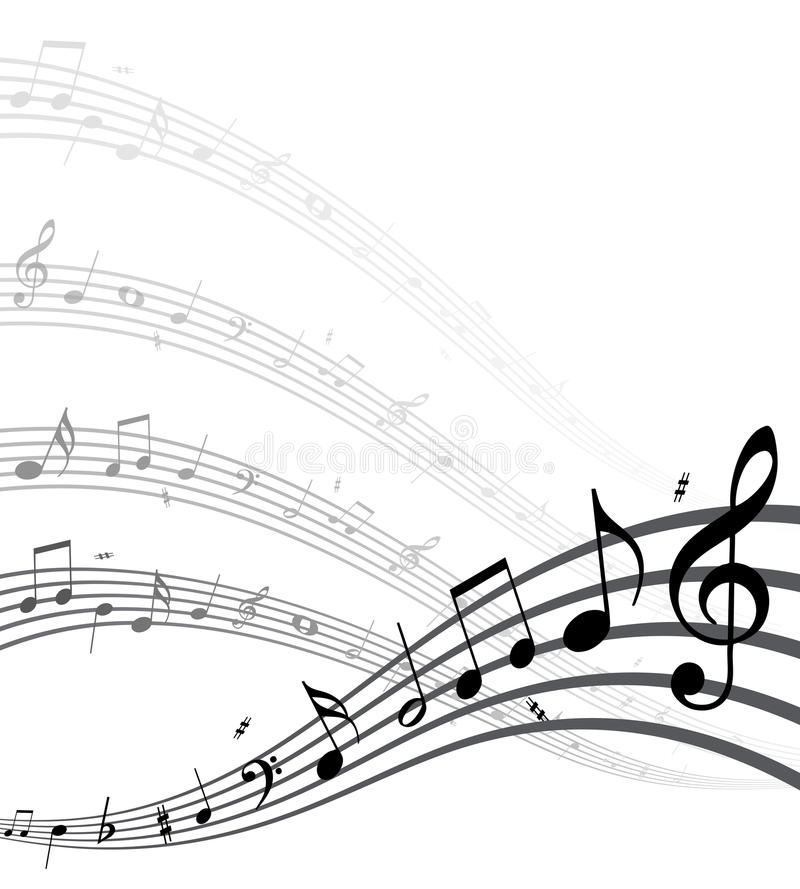 Download Music notes stock vector. Image of illustration, dynamic - 18829302