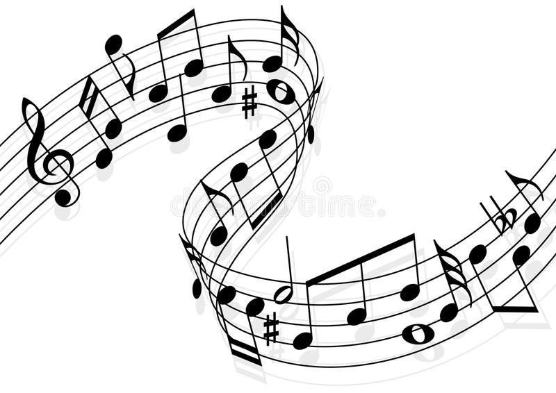 Line Art Notes : Music notes stock vector illustration of melody dance