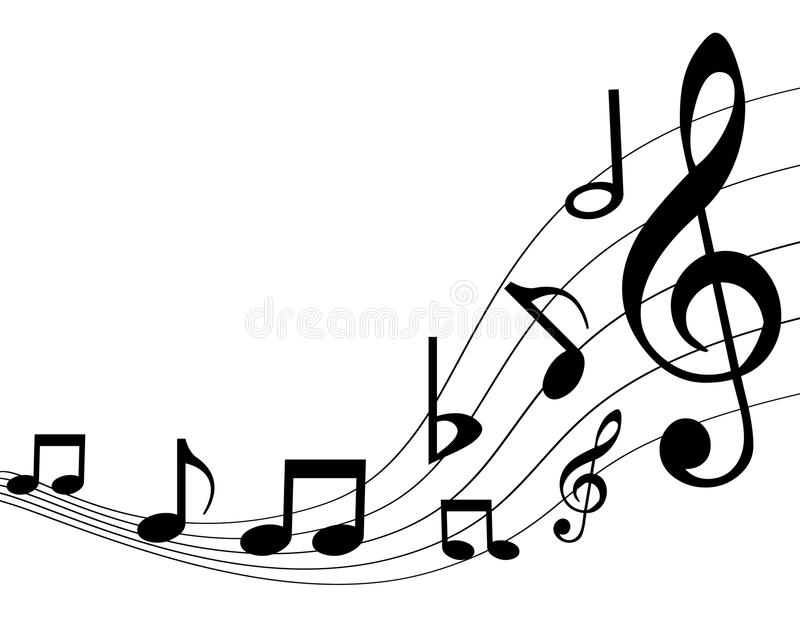 Music notes. Illustration of music notes on white background