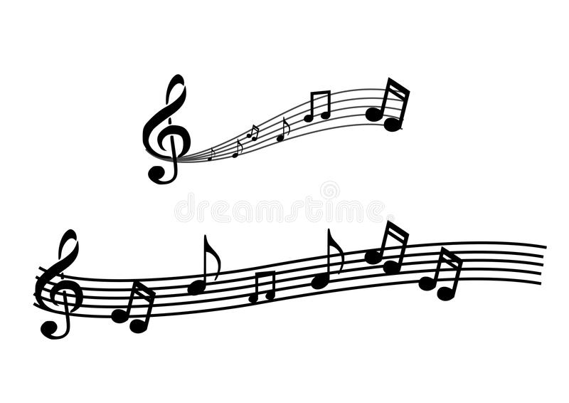 Download Music notes stock illustration. Image of beat, clef, stave - 22932434