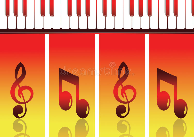 Music notes stock photos