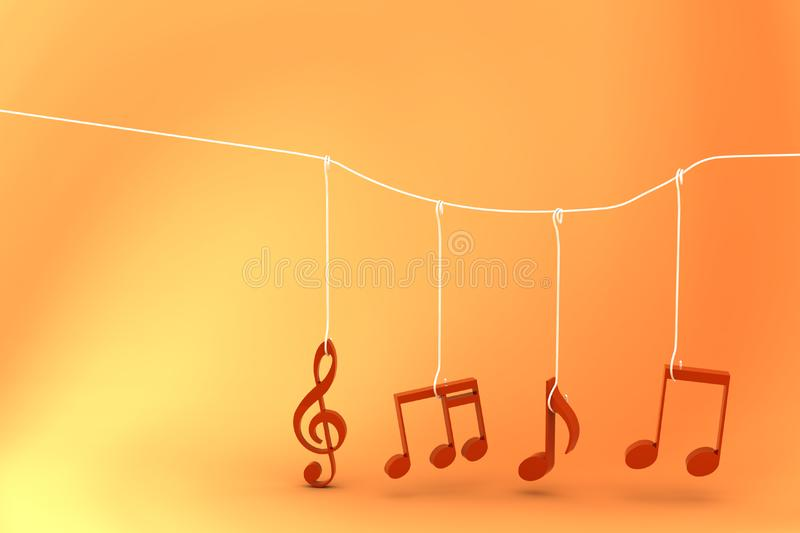 Music Notes stock photo