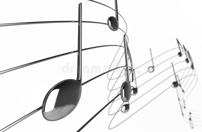 Music notes. On White Background