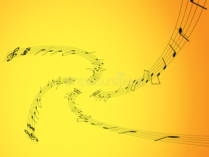 Music Notes - 3 Stock Image