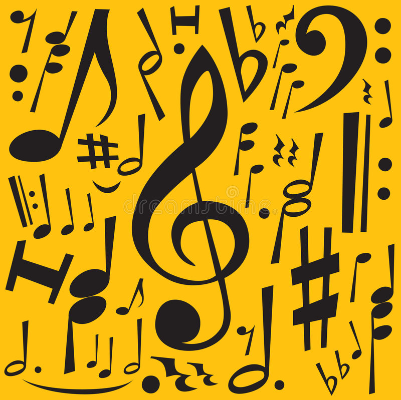 Download Music Notes stock vector. Image of element, musical, melody - 3176762