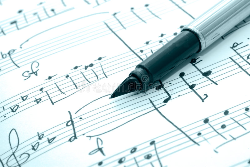 Download Music notes stock image. Image of composition, closeup - 3895521