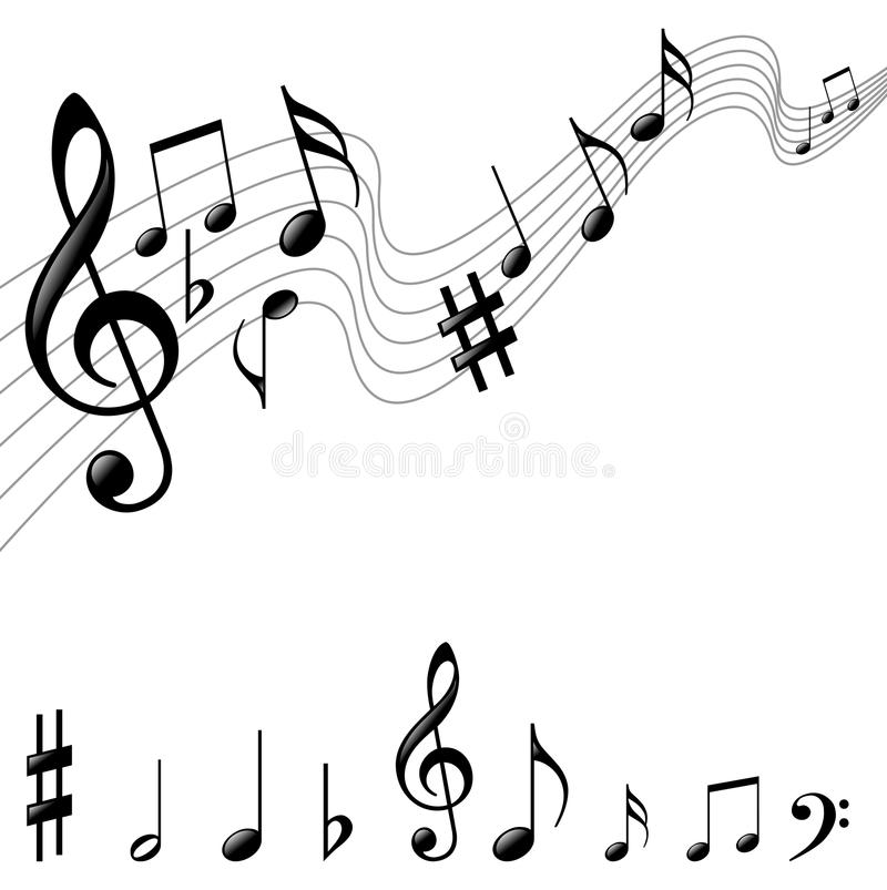 Free Music Notes Royalty Free Stock Images - 40539489