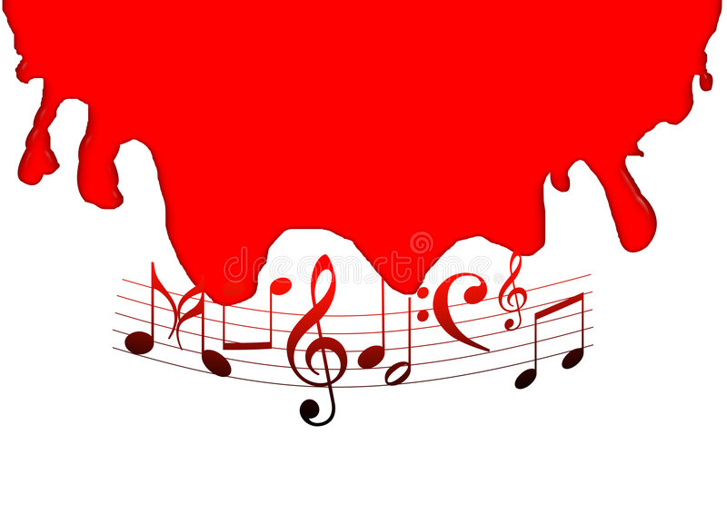 Download Music notes stock illustration. Illustration of paint - 7281466