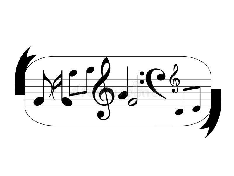 Music notes. Display as a ward music generated by illustration stock illustration