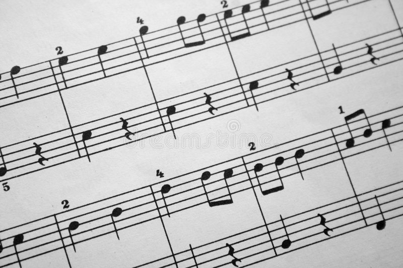 Download Music notes stock image. Image of jazz, harmony, antique - 966113