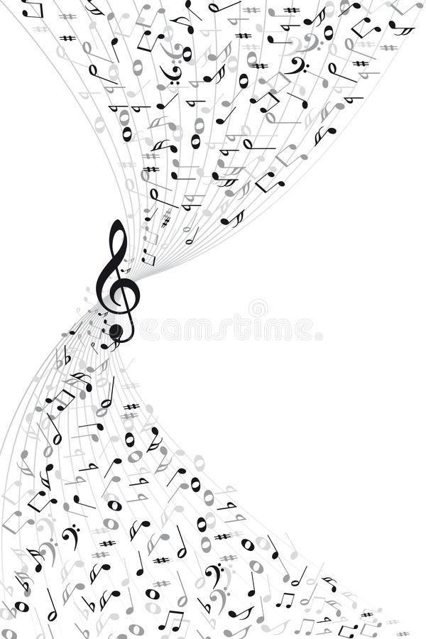 Music notes background vector illustration