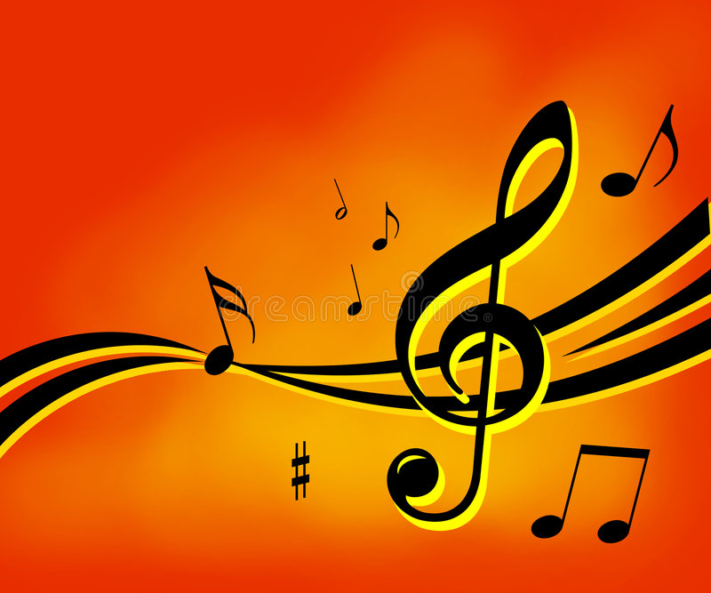 Music notes background. Illustration with music's signs vector illustration