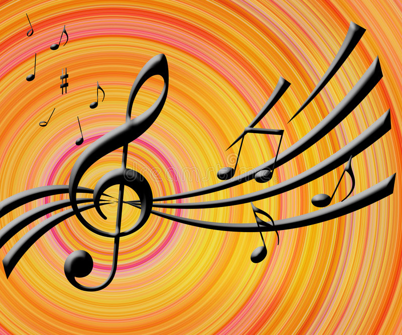 Download Music notes background stock illustration. Image of line - 2631358
