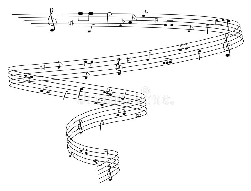 Music Notes Stock Vector Illustration Of Element Outline 42123398
