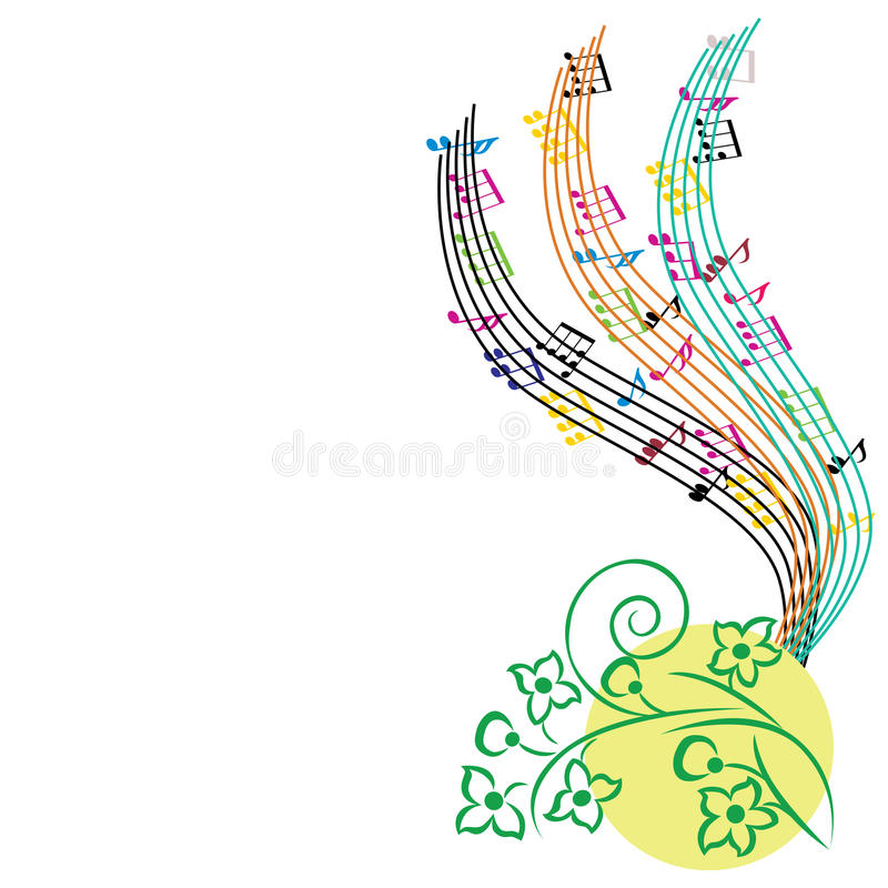 Music notes background musical theme composition stock for The craft of musical composition