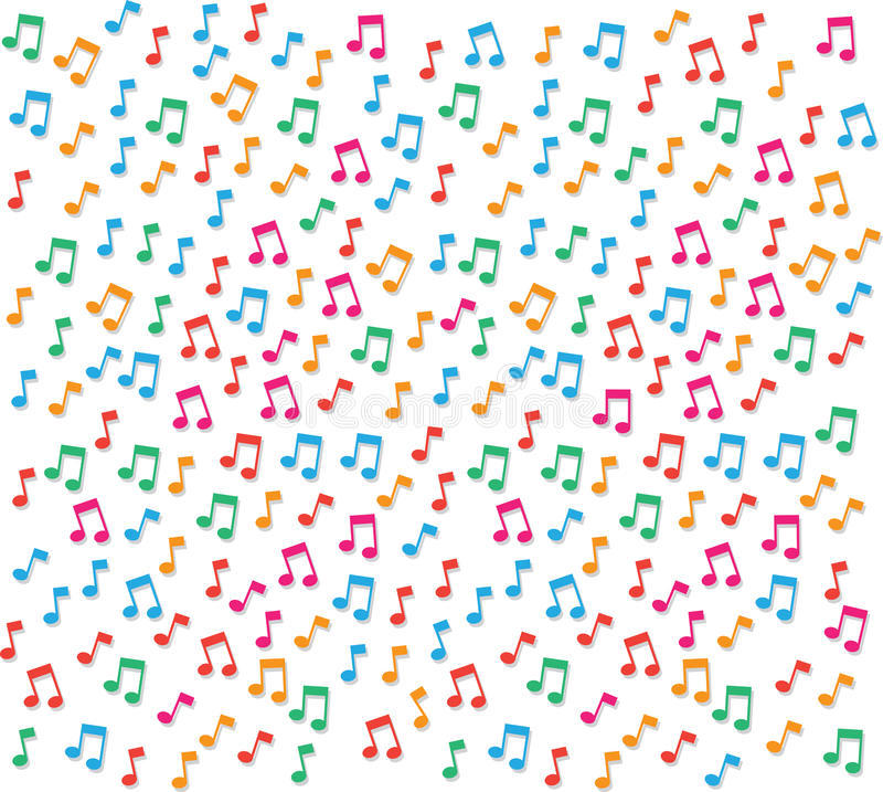 Music Notes Background stock vector. Illustration of ...