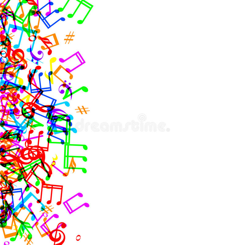 music notes border stock vector illustration of sheet 42859174 rh dreamstime com Abstract Music Notes Background Vintage Music Notes Background