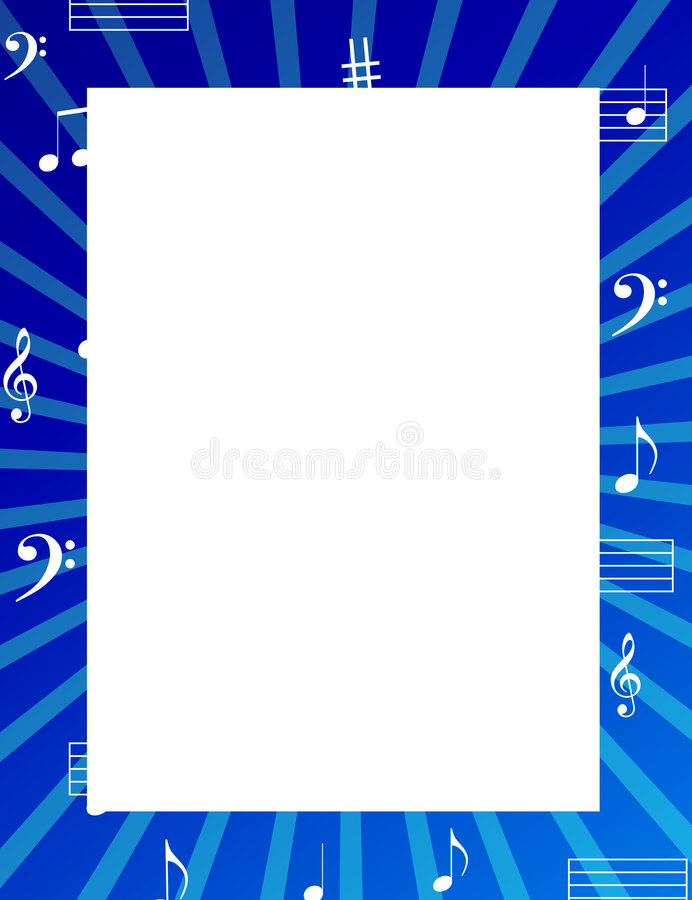 Free Music Notes Border / Frame Stock Photography - 6400922