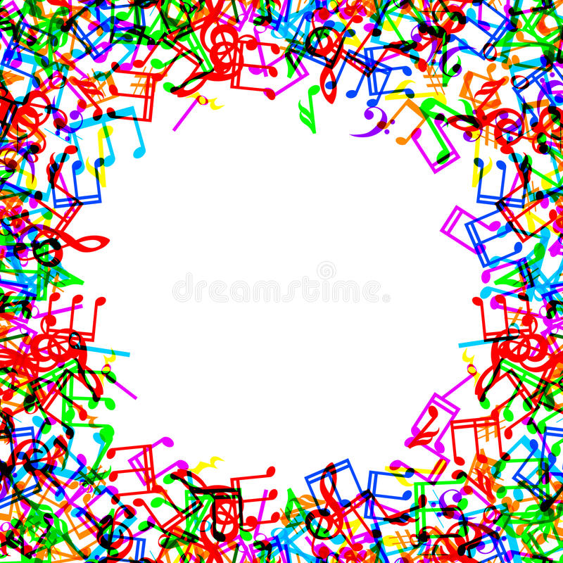 music notes border frame stock vector illustration of gclef 42859179 rh dreamstime com Fancy Vector Borders Abstract Vector Borders