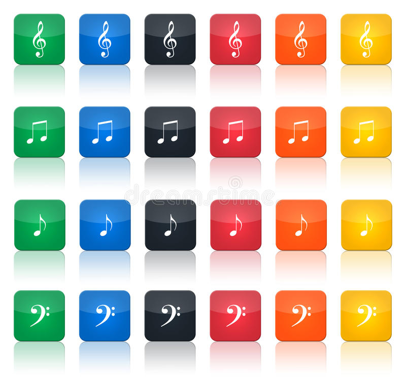 Download Music notes buttons stock illustration. Illustration of backgrounds - 9376689