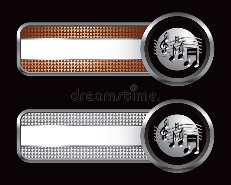 Download Music Notes On Checkered Striped Banners Stock Vector - Illustration: 11380852