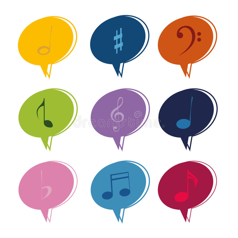 Download Music notes stock vector. Illustration of symbol, media - 32166228