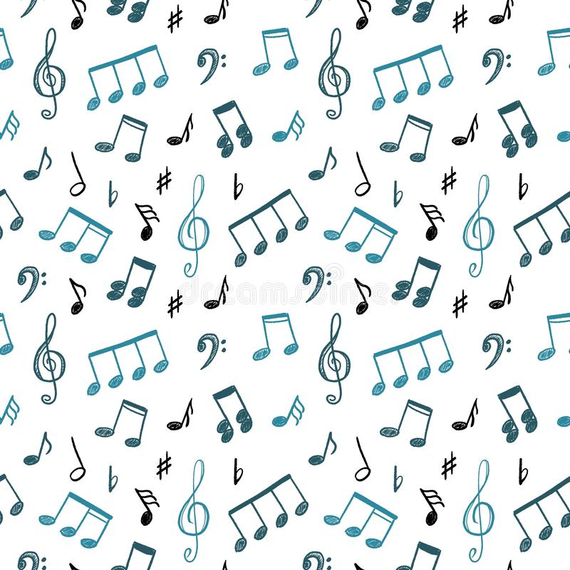 Music notes doodle stock illustration