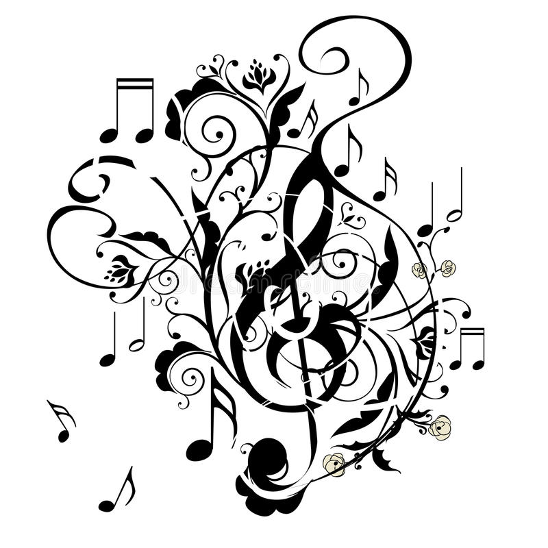 Grunge Music Note Stock Vector Illustration Of Background