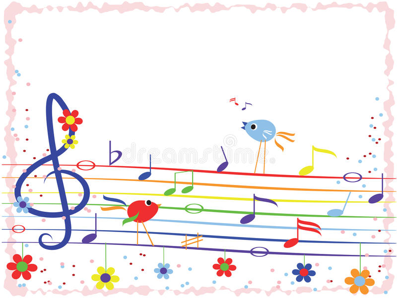 Music notes,frame stock image