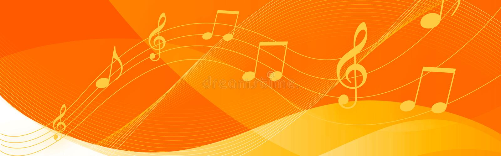 Download Music notes header stock illustration. Illustration of illustration - 12542612