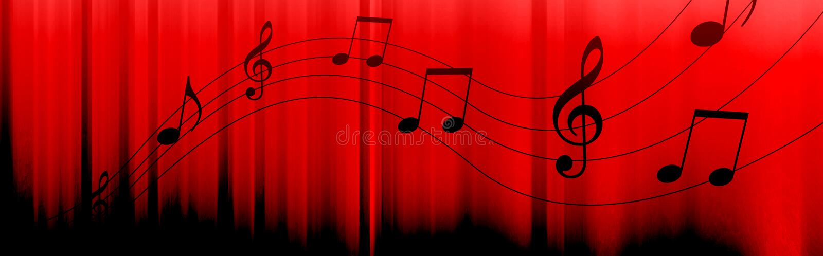 Download Music notes header stock illustration. Illustration of backdrops - 16901241