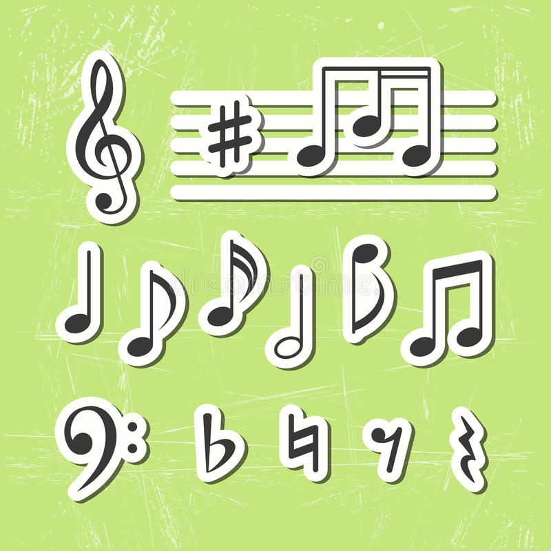 Music notes  icons