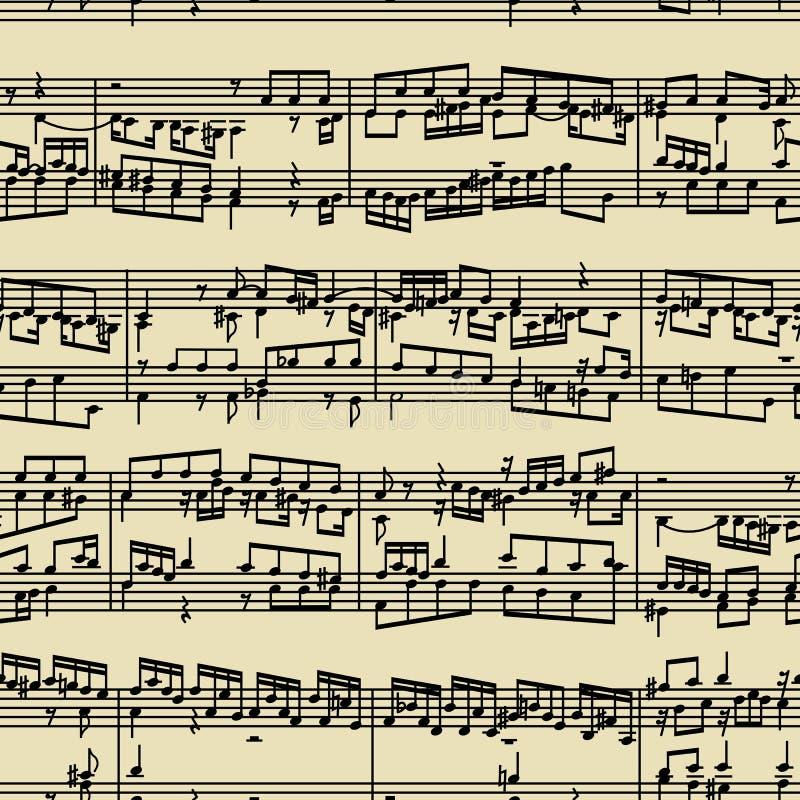 Music notes manuscript stock image