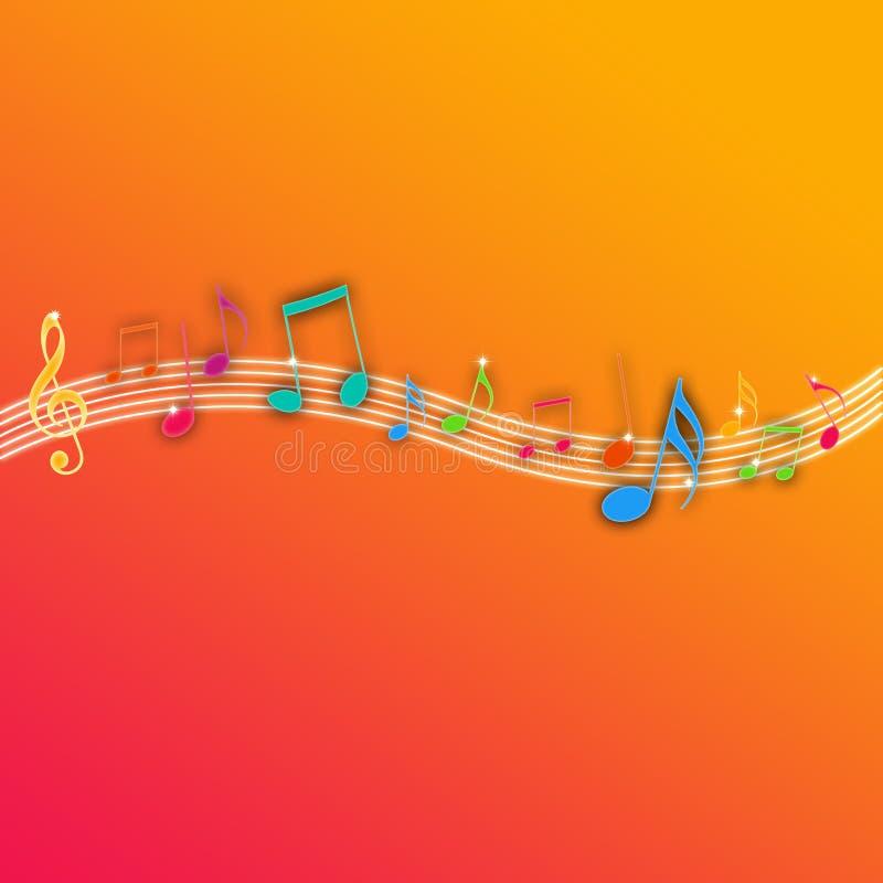 Download Music Notes On Orange Background Royalty Free Stock Photo - Image: 15193315