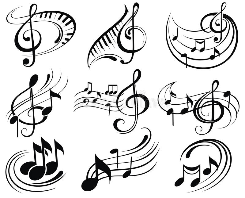 Download Music notes stock vector. Illustration of ornamental - 45798062