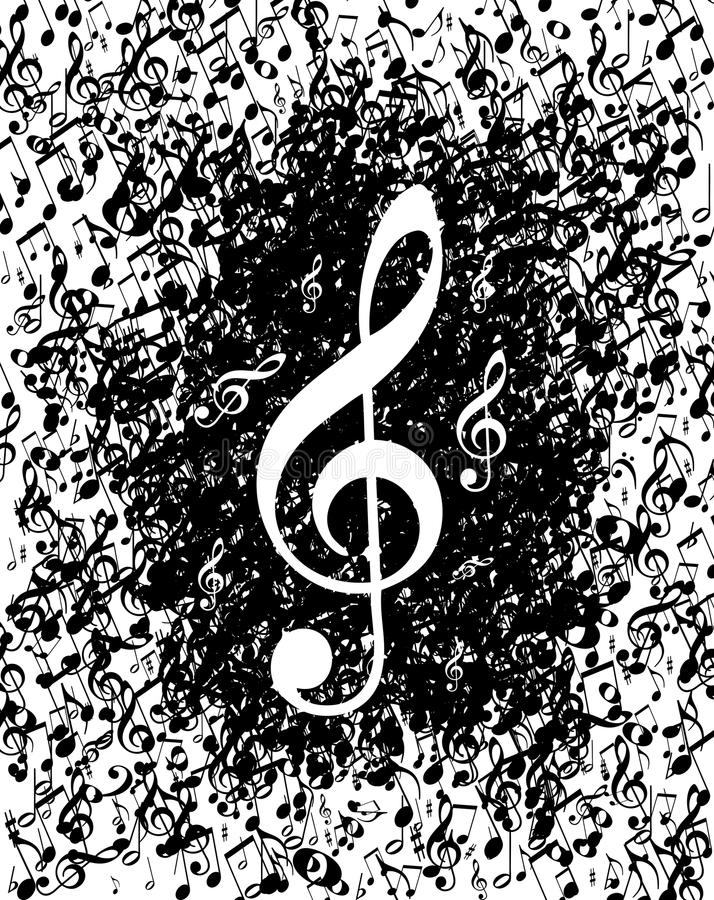 Download Music notes poster stock vector. Image of classical, piano - 19051305