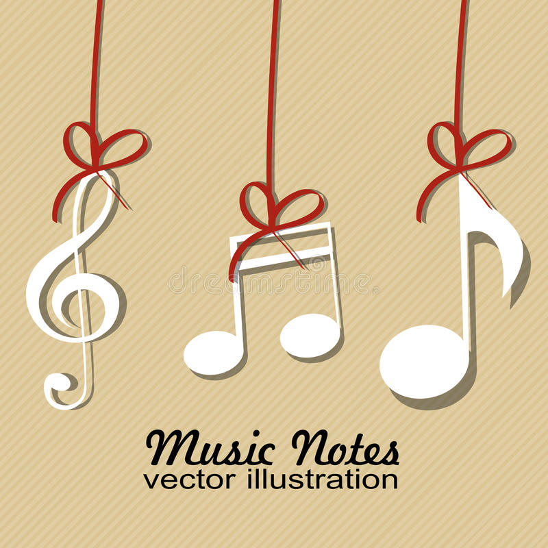 Download Music notes stock vector. Image of element, white, listening - 32166226