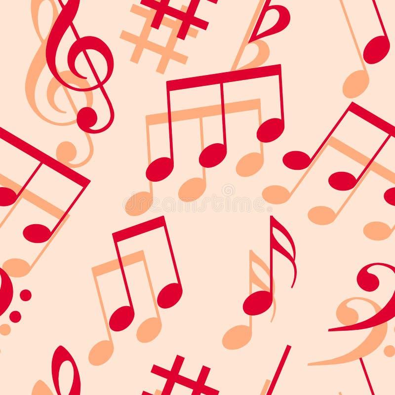 Music notes. Seamless wallpaper. stock illustration