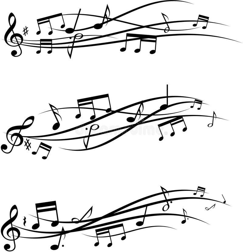 Music notes set stock illustration