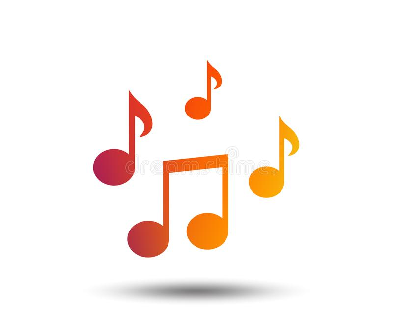 Music Notes Sign Icon Musical Symbol Stock Vector Illustration