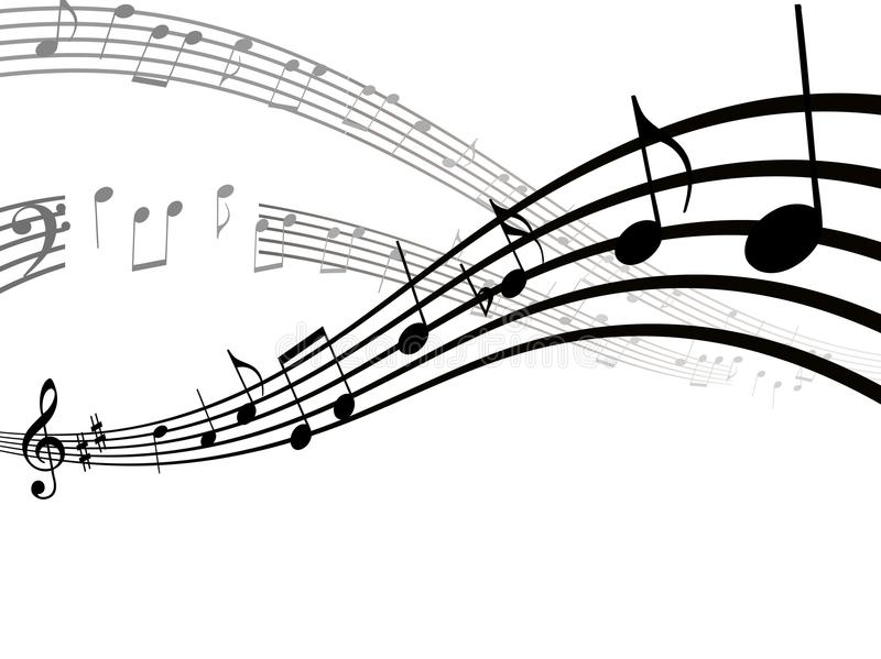 Music notes, song, melody or tune flat icon for musical apps and websites royalty free illustration