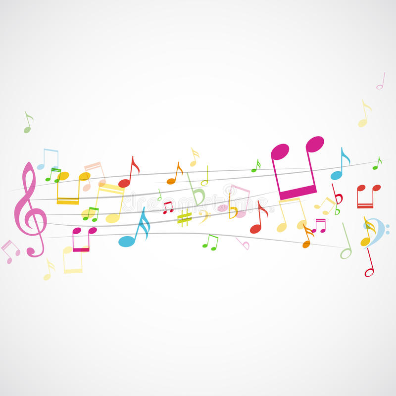 Download Music notes on stave stock vector. Image of background - 30342975