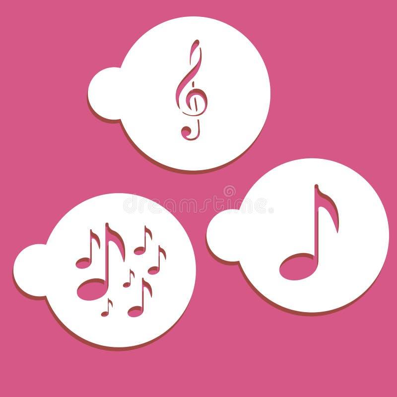 Music notes stencils royalty free illustration