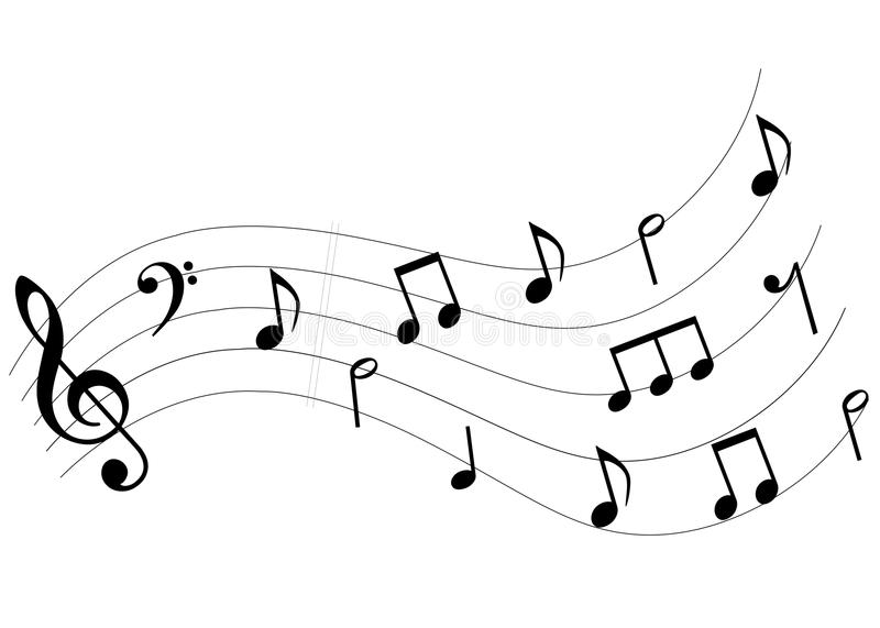 Music notes surge vector illustration