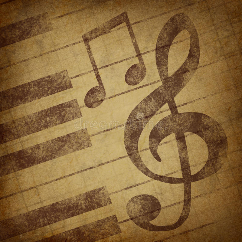 Download Music Notes Symbol Grunge Vintage Stock Illustration - Illustration: 16903026