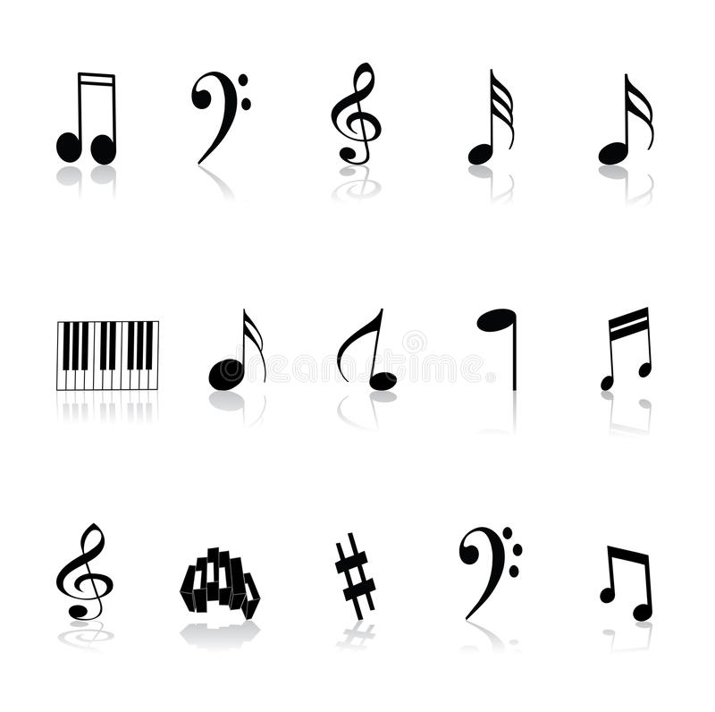 Music Notes And Symbols Stock Vector Illustration Of Design 53696213