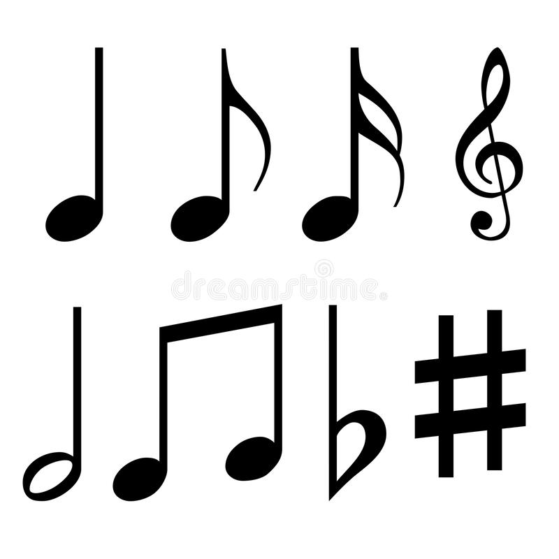 Music Notes Symbols Stock Illustration Illustration Of Half 38972700