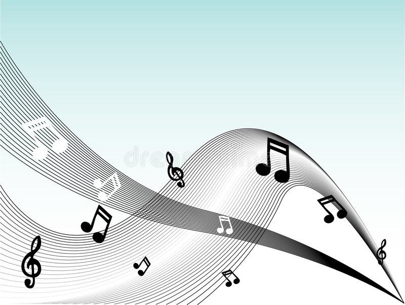 Music Notes Vector royalty free illustration